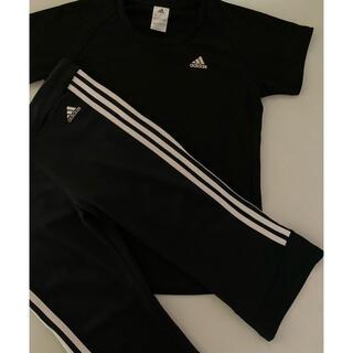 アディダス(adidas)のadidas アディダスセットアップ 半袖 Tシャツ&7分丈パンツ L スポーツ(その他)