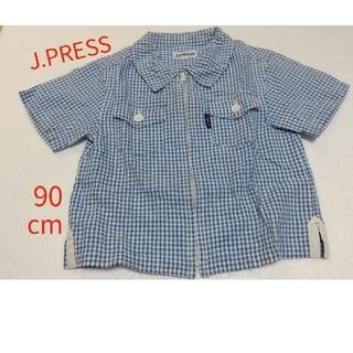 ジェイプレス(J.PRESS)のJ.PRESS ジップアップ半袖シャツ サイズ90cm(Tシャツ/カットソー)