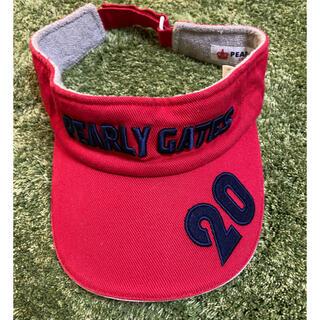 PEARLY GATES - Pearly gatesパーリーゲイツ 20周年 赤 サンバイザー