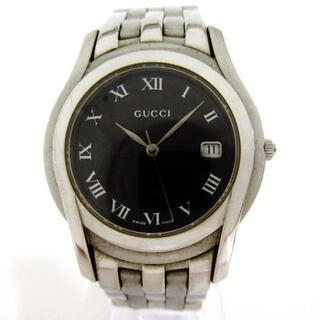 グッチ(Gucci)のGUCCI(グッチ) 腕時計 - 5500M メンズ 黒(その他)