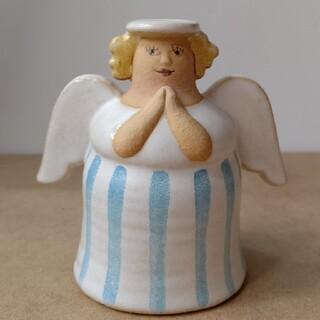 リサラーソン(Lisa Larson)のリサラーソン 天使のキャンドルホルダー エンジェル 北欧雑貨(置物)