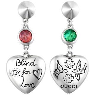 グッチ(Gucci)のGUCCI グッチ BLIND for LOVEハートピアス(ピアス)
