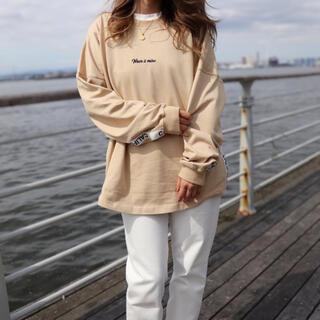 ザノースフェイス(THE NORTH FACE)の西海岸スタイル☆LUSSO SURF テープ刺繍ロンT スウェット Mサイズ☆(Tシャツ/カットソー(七分/長袖))