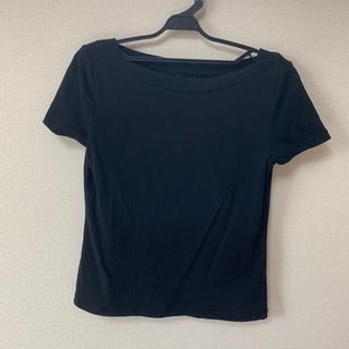ケイトスペードニューヨーク(kate spade new york)のケイトスペード 半袖Tシャツ コットン ブラック s(Tシャツ(半袖/袖なし))