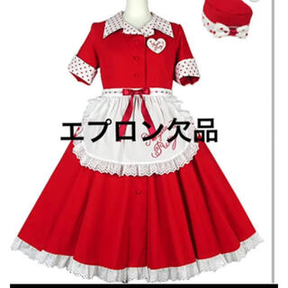 Angelic Pretty - ミルクシェイクワンピース赤 エプロン欠品