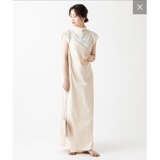 ミスティック(mystic)のmystic ラップロングジャンパースカート+ネックレス(ロングワンピース/マキシワンピース)