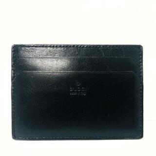 グッチ(Gucci)のグッチ カードケース - 92673 黒 レザー(名刺入れ/定期入れ)