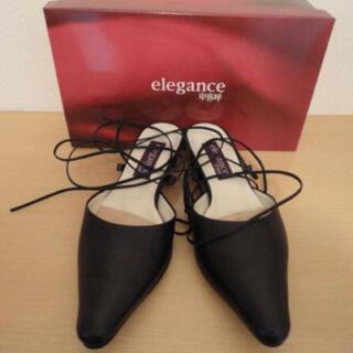 ほぼ 新品 17850円 elegance 卑弥呼 ミュール 23,5 革 靴(ミュール)
