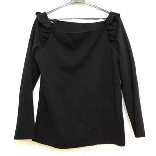 フォクシー(FOXEY)のフォクシー 長袖セーター サイズF - 黒(ニット/セーター)