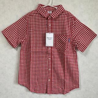 ベベ(BeBe)の新品 SLAPSLIP ギンガムチェック シャツ 150 スラップスリップ  赤(Tシャツ/カットソー)