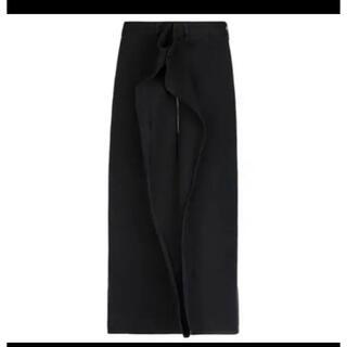 エムエムシックス(MM6)のMM6  フロントジップデザインデニムスカート(ロングスカート)