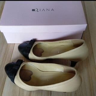 ダイアナ(DIANA)のアナ バイカラー パンプス 靴 23.5cm   DIANA(ハイヒール/パンプス)