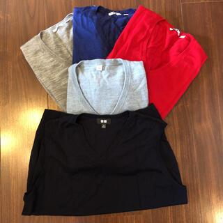 ユニクロ(UNIQLO)のメンズユニクロVネックセーター&ベスト(ニット/セーター)