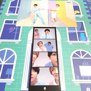 ボウダンショウネンダン(防弾少年団(BTS))のBTS FESTA カレンダー ポストカード 4コマフォト テテ ホビ セット(K-POP/アジア)