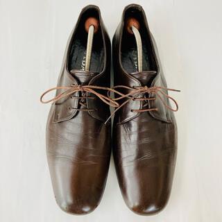 プラダ(PRADA)のPRADA プラダ 革靴 プレーントゥ 濃茶 26.5cm 除菌・消臭済み(ドレス/ビジネス)