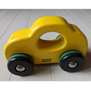 ボーネルンド(BorneLund)のボーネルンド●BAJO社 木のビートル 車 おもちゃ 黄色●中古N(電車のおもちゃ/車)