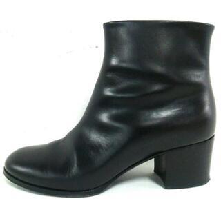 シャネル(CHANEL)のシャネル ショートブーツ 36 1/2  C 黒(ブーツ)