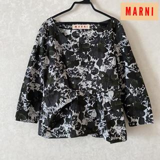 マルニ(Marni)のマルニ ブラウス 裾変形 花柄 38サイズ(シャツ/ブラウス(半袖/袖なし))