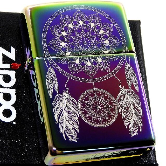 ZIPPO(ジッポー)の送料無料☆zippo☆スペクトラム☆インディアンフェザー☆ジッポ メンズのファッション小物(タバコグッズ)の商品写真