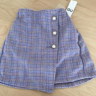 GU - 【新品】GU ツイードスカートパンツ 紫