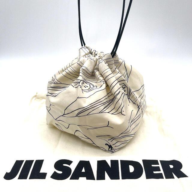 Jil Sander(ジルサンダー)の【希少✨】JIL SANDER ジルサンダー ドローストリング 巾着 バッグ レディースのバッグ(ショルダーバッグ)の商品写真