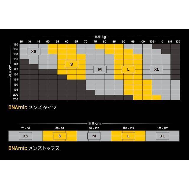 SKINS(スキンズ)のXLサイズ スキンズ コンプレッション DNAMIC ハーフタイツ 黒 スポーツ/アウトドアのランニング(ウェア)の商品写真