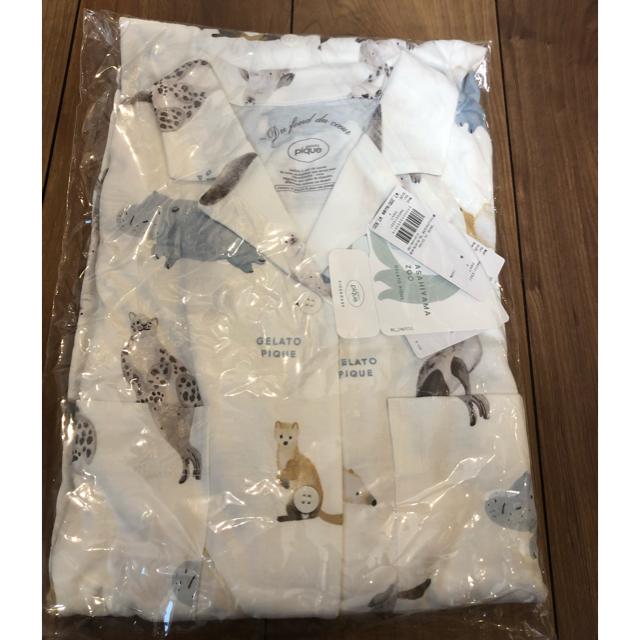 gelato pique(ジェラートピケ)の【旭山動物園】アニマルモチーフシャツドレス ジェラートピケ レディースのルームウェア/パジャマ(ルームウェア)の商品写真