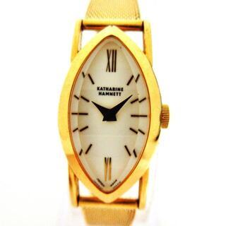 キャサリンハムネット(KATHARINE HAMNETT)のキャサリンハムネット 腕時計 - KH-0806 白(腕時計)
