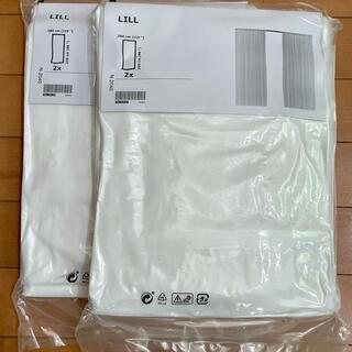 イケア(IKEA)のIKEA レースカーテン 2枚組2セット アイロン接着裾上げテープ(レースカーテン)