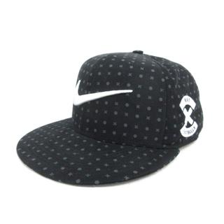 ナイキ(NIKE)のナイキ NIKE キャップ スウォッシュ 3D 刺繍 総柄 帽子 黒 ブラック(その他)