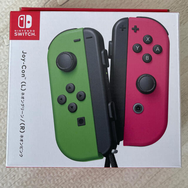 Nintendo Switch(ニンテンドースイッチ)の任天堂スイッチ joy-con  ネオングリーン ネオンピンク エンタメ/ホビーのゲームソフト/ゲーム機本体(その他)の商品写真