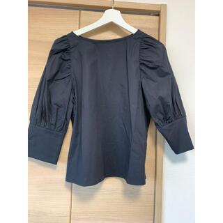 デミルクスビームス(Demi-Luxe BEAMS)のデミルクスビームス  ブラウス ブラック 新品未使用(シャツ/ブラウス(半袖/袖なし))