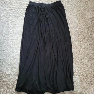 ユニクロ(UNIQLO)のUNIQLO ロングスカート 黒(ロングスカート)