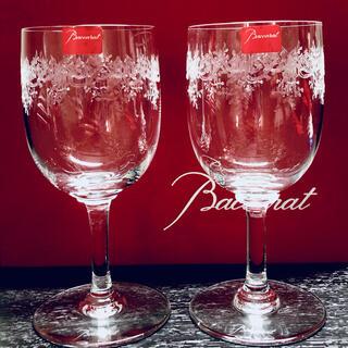 Baccarat - バカラ グラス  セビーヌ 赤ワイン グラス エッチング ペア