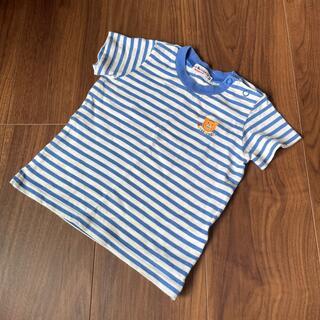 ミキハウス(mikihouse)のHOTBISCUITS ボーダーTシャツ 80㎝(Tシャツ)