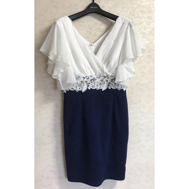 dazzy store(デイジーストア)のdazzystore⭐︎シフォンスリーブウエストレースタイトミニドレス レディースのフォーマル/ドレス(ミニドレス)の商品写真