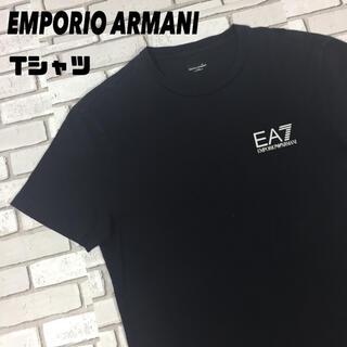 エンポリオアルマーニ(Emporio Armani)の古着 EMPORIOARMANI エンポリオアルマーニ tシャツ ロゴ 黒(Tシャツ/カットソー(半袖/袖なし))