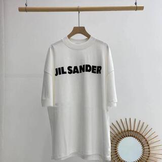 Jil Sander - JIL SANDER新品サイズMジルサンダーオーバーサイズ ロゴ Tシャツ
