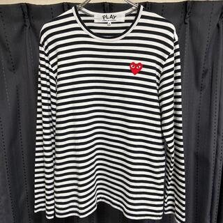 COMME des GARCONS - PLAY COMME des GARCONS カットソー ボーダー Mサイズ