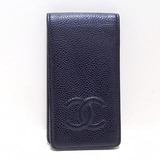 シャネル(CHANEL)のシャネル 携帯電話ケース - 黒 ココマーク(モバイルケース/カバー)
