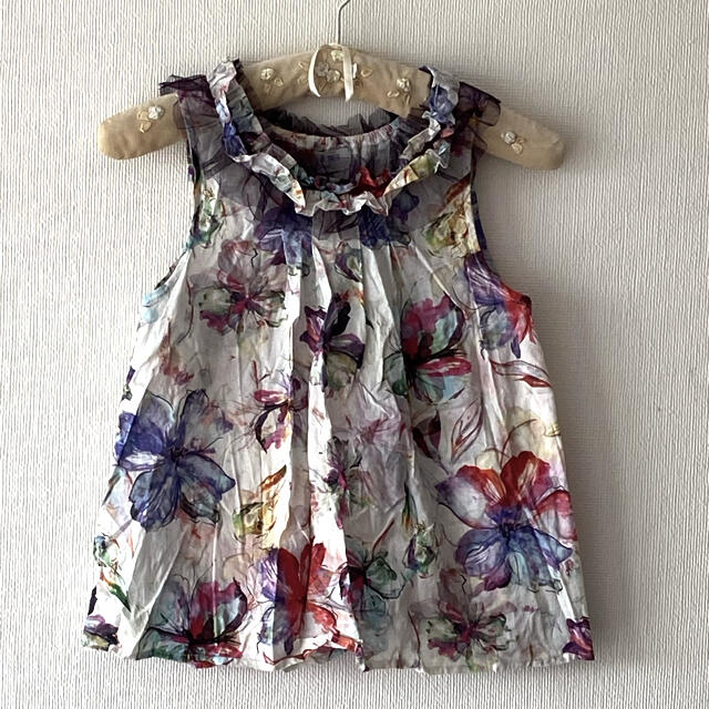 ANNA SUI mini(アナスイミニ)のアナスイミニトップスL キッズ/ベビー/マタニティのキッズ服女の子用(90cm~)(Tシャツ/カットソー)の商品写真