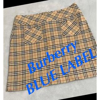 BURBERRY BLUE LABEL - Burberry BLUE LABEL バーバリーブルーレーベルスカート