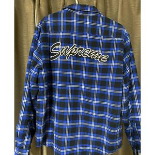 Supreme - SUPREME Arc Logo Quilted Flannel Shirt