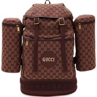 Gucci - GUCCI グッチ GGキャンバス リュック バックパック ボルドー