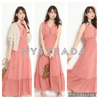 Mystrada - 新品未使用♡Mystrada 洗えるシャーリングボイルワンピース ピンク