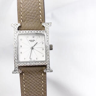 Hermes - 【仕上済】エルメス Hウォッチ シルバー ダイヤ レディース 腕時計