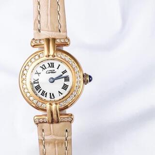 カルティエ(Cartier)の【保証書付/ベルト二色】カルティエ コリゼ ゴールド ダイヤ レディース 時計(腕時計)