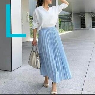 ユニクロ(UNIQLO)のプリーツロングスカート(丈標準80~84cm) (WOMEN)   ユニクロ  (ロングスカート)