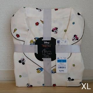 GU サテンパジャマ XL ディズニー オフホワイト