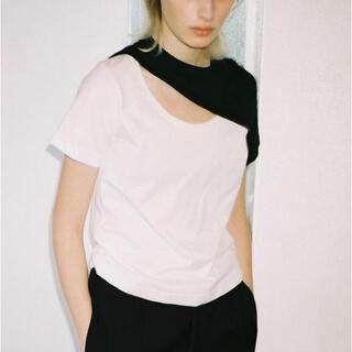 Maison Martin Margiela - 【soduk】there is a hole t-shirtホール&バイカラーT